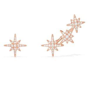 Jewelry - New Asymmetrical Star Stud Earrings Gold & Silver